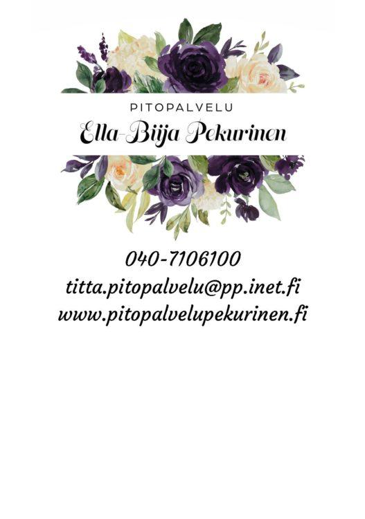Pitopalvelu Ella-Biija Pekurinen seur.